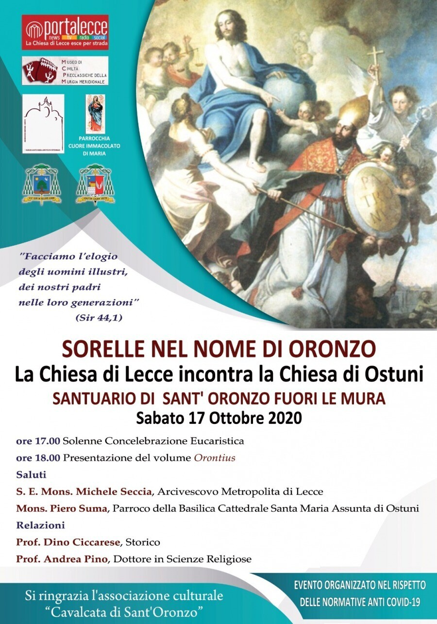 Sorelle nel nome di Oronzo. La Chiesa di Lecce incontra la Chiesa di Ostuni